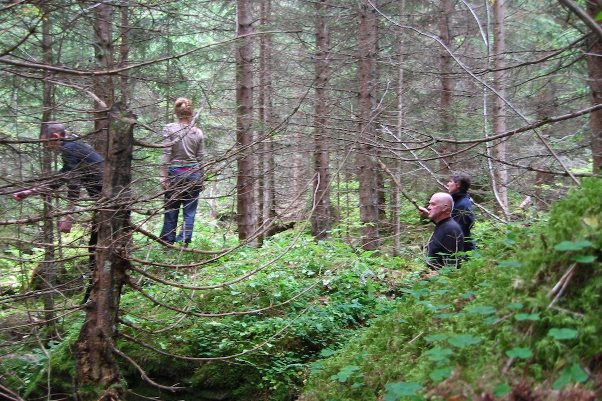 Landvermessen, Schwarzwaldalp (CH), 2010. Foto: Franziska Matter
