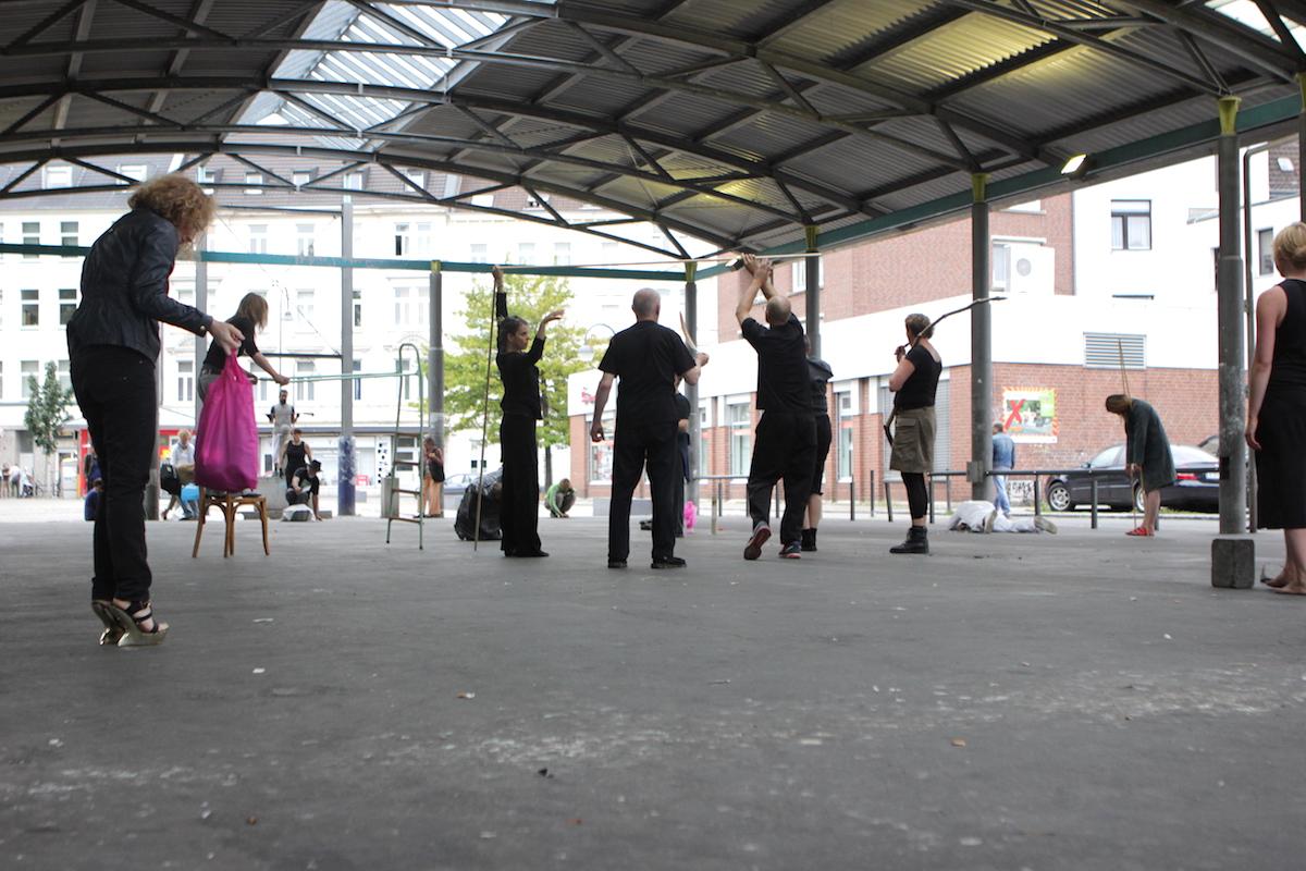 LAB17 Performance Kunst Konferenz, Kulturbunker Köln-Mühlheim (D), 2017. Foto: Anja Plonka