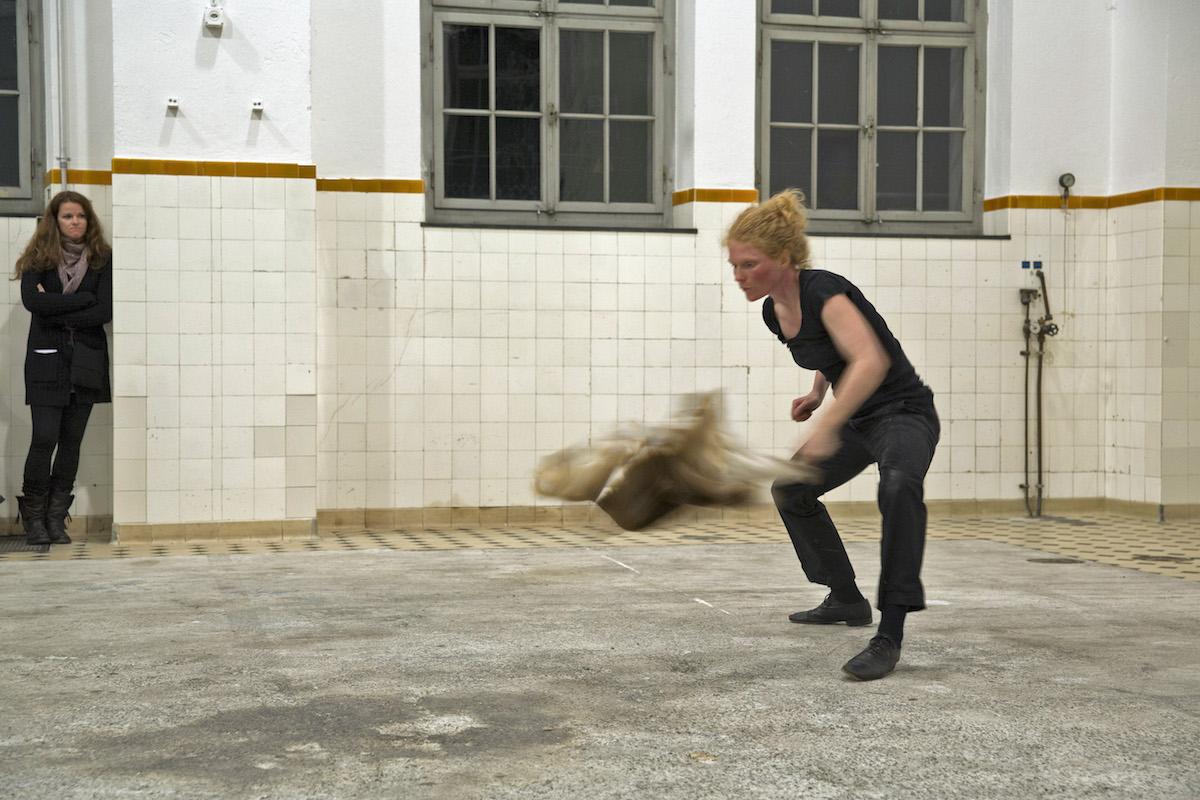 12th Int. Performance Art Festival, Turbine, Giswil (CH), 2013. Foto: Georg Anderhub